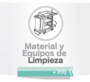 Material y equipos de limpieza